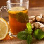 напиток для похудения с имбирем и лимоном, чай