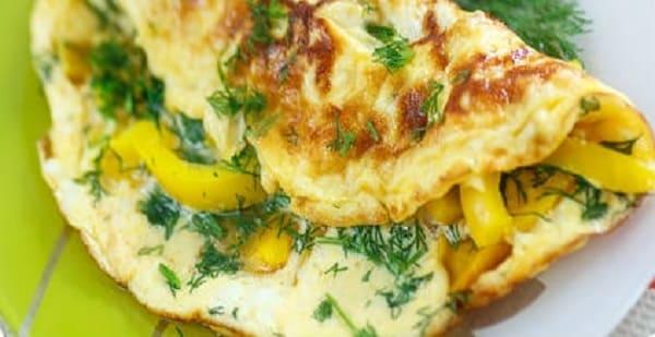 Завтрак для похудения - омлет, еда