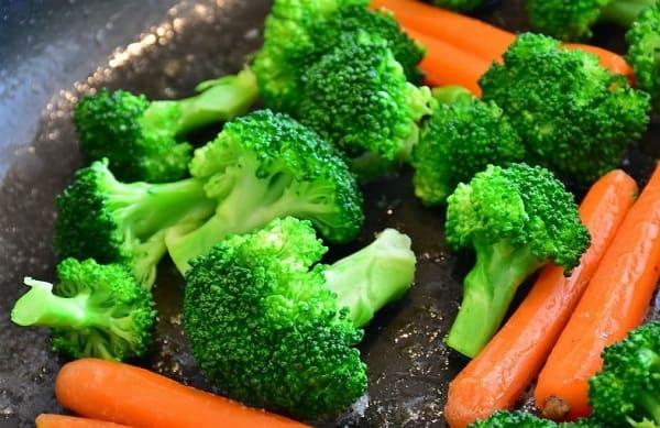 Сочетание углеводов и овощей, картинка