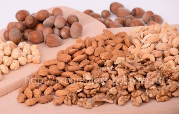 растительный белок в составе, орехи