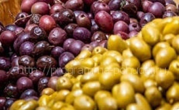 высококалорийная пища, оливки
