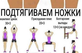 Упражнения для похудения ляжек и живота