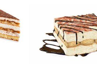 Калорийность тирамису классического, конфет Сладуница, торта