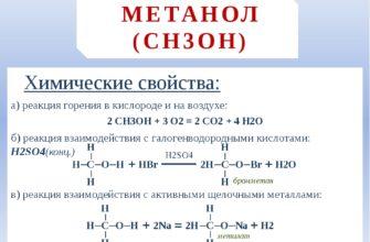 Метанол: химические свойства и получение